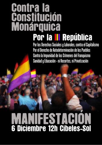 & de Diciembre de 2011 manifestación contra la Constitución Monárquica