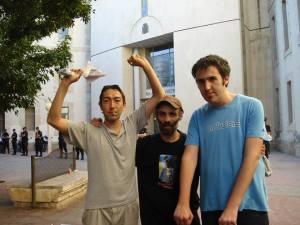 Tres de los detenidos a la salida de juzgados