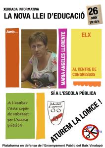 Cartell Xerrada Maria Angeles Llorente