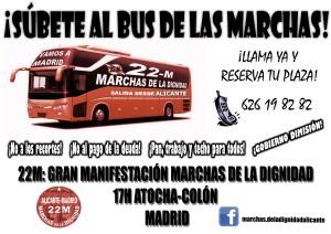 cartel bus 22m alicante