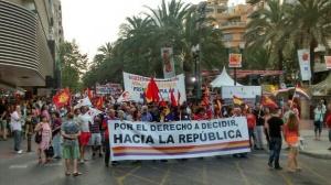Cabecera manifestación Alicante