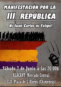manifestacion republica - abdicacion general